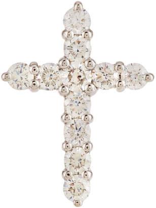 Diana M. Jewels 18k White Gold Diamond Cross Pendant Necklace, 1.6tcw