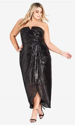 City Chic Sequin Siren Maxi Dress