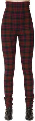 Philosophy di Lorenzo Serafini High Waist Check Stretch Flannel Pants