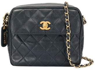 cbbbdcd9090d Chanel Pre-Owned caviar skin turn-lock square chain bag