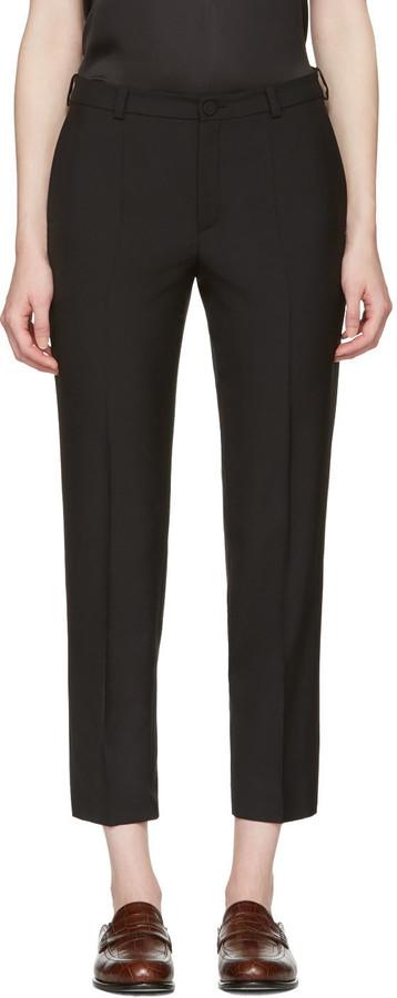 LanvinLanvin Black Cropped Trousers