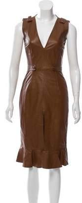 Altuzarra Leather A-line Dress