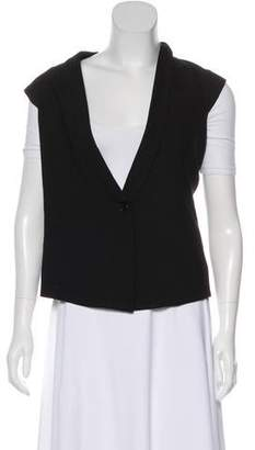 Helmut Lang Shawl Collared Wool Vest