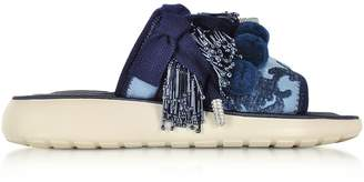 Marc Jacobs Emerson Pompom Denim Sport Sandal