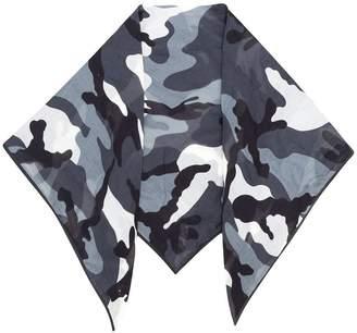 Valentino Camouflage Foulard scarf