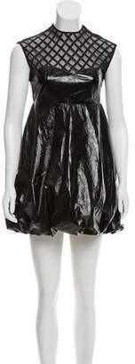 Au Jour Le Jour Vegan Leather Mini Dress