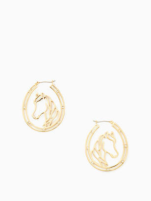 Kate Spade Wild ones horse wire hoops