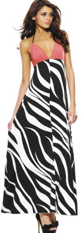 Vicky Martin Printed Backless Maxi Dress