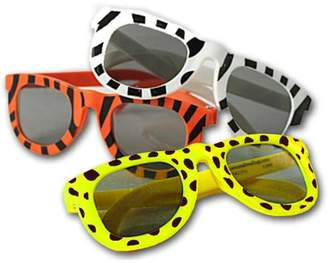 Express Fun Animal Print Sunglasses Assortment (1 dz) [Toy]