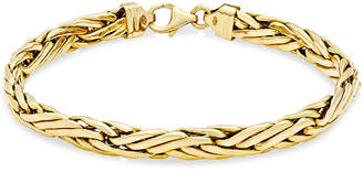 Italian Gold Woven Link Chain Bracelet in 14k Gold