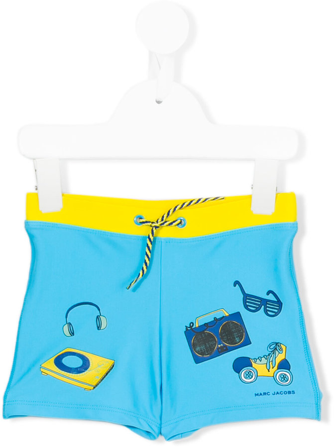 Little Marc Jacobs Little Marc Jacobs printed swim trunks