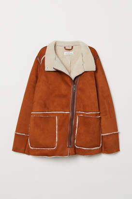 H&M Pile-lined Jacket - Beige