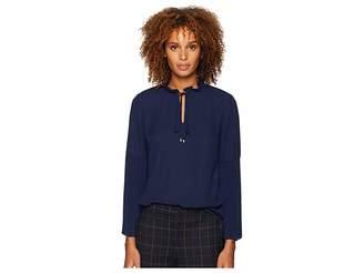 Lauren Ralph Lauren Georgette Bell-Sleeve Top Women's Clothing