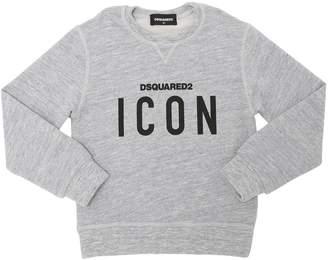 DSQUARED2 Icon Printed Cotton Sweatshirt