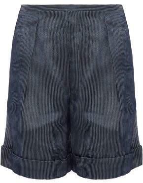 Giorgio Armani Pleated Embroidered Tulle Shorts