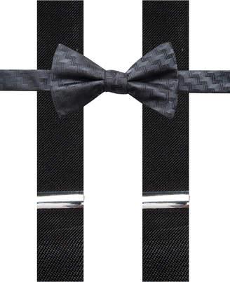 Alfani Men Errol Chevron Stripe Bow Tie & Suspenders Set