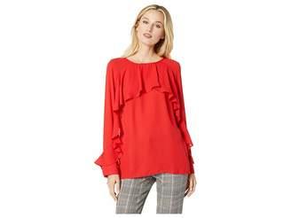 ECI Long Sleeve Ruffled Blouse Women's Blouse
