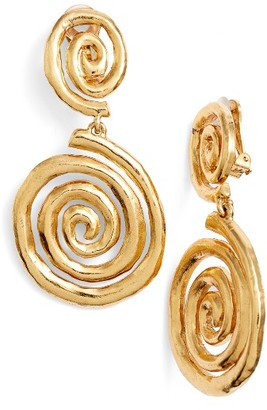 Women's Oscar De La Renta Swirl Clip Earrings $225 thestylecure.com
