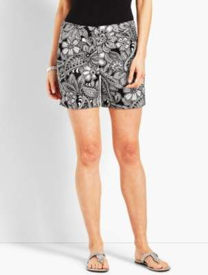 """Talbots 5"""" Etched Paisley Short"""