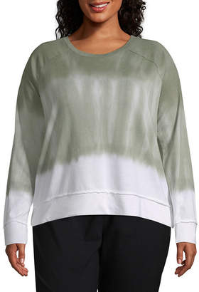 A.N.A Long Sleeve Tie Dye Sweatshirt - Plus