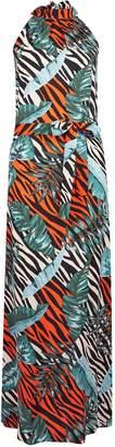 Dorothy Perkins Womens Multi Colour Neon Jungle Print Maxi Dress