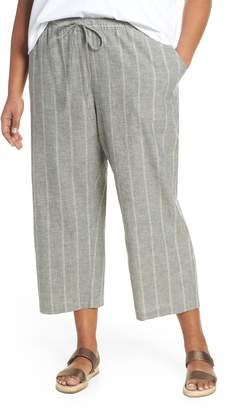 6df699fc0d Eileen Fisher Organic Cotton Cropped Pants - ShopStyle