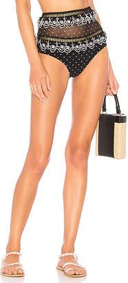 Zimmermann Jaya Scallop High Wasted Bikini Bottom