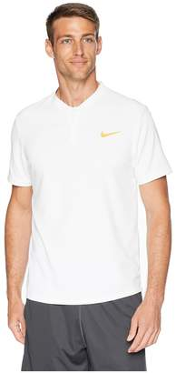 Nike Court Dry Advantage Solid Tennis Polo Men's Short Sleeve Pullover