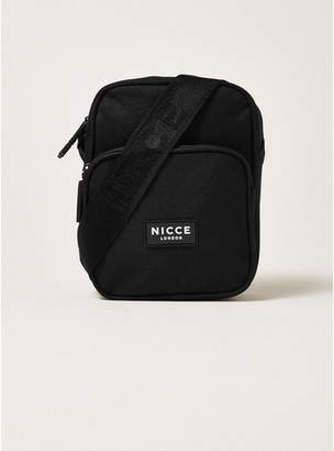 Topman Mens NICCE Black Flight Shoulder Bag