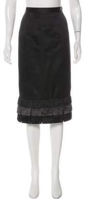 Marc Jacobs Silk Knee-Length Skirt Black Silk Knee-Length Skirt