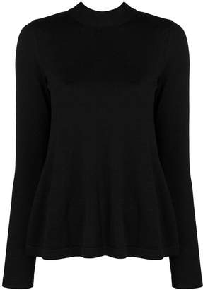 7e6b72e5cd RED Valentino sheer panel knitted top