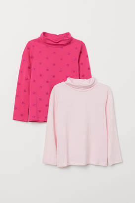 H&M 2-pack Turtleneck Tops - Pink