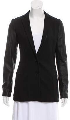 Theory Leather Trim Blazer w/ Tags