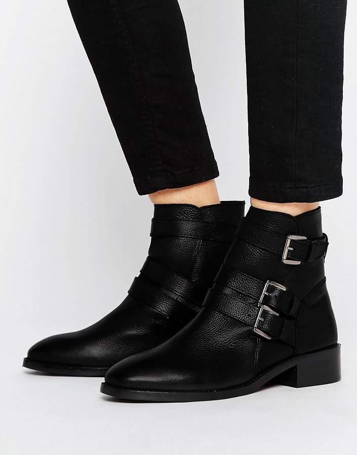 AsosASOS ALASKA Leather Multi Buckle Boots