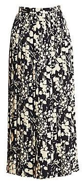 The Row Women's Lawrence Silk Floral Skirt