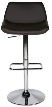 Whiteline Modern Imports Maya Barstool, Chocolate Faux Leather, adjustable height, Chrome base