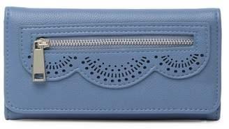 Jessica Simpson Harper Perforated Flap Checkbook