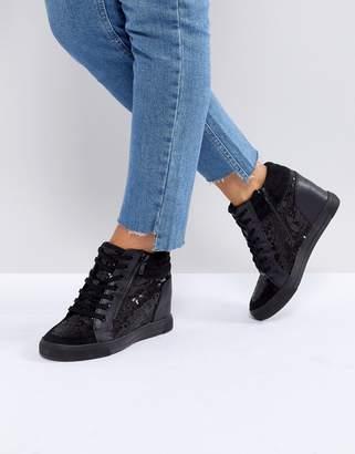 Aldo Kaia Wedge Sequin Sneaker