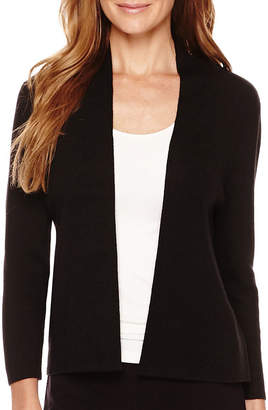Liz Claiborne Long-Sleeve Drape-Neck Cardigan