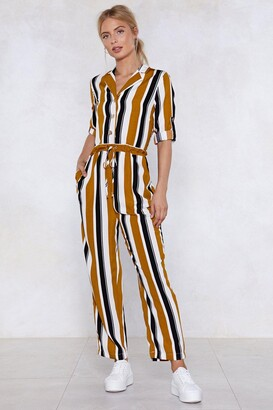Nasty Gal Skip the Line Striped Jumpsuit