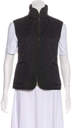 Burberry Quilted Mock Neck Vest