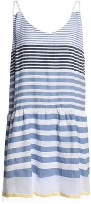 Lemlem Striped Cotton-Blend Gauze Mini Dress