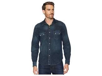 Lucky Brand Long Sleeve Sawtooth Denim Western Shirt