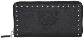 MCM Leather Chansell Zip-Around Wallet