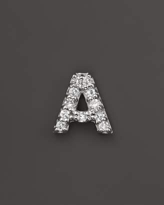 KC Designs Diamond Initial Stud Earring in 14K White Gold