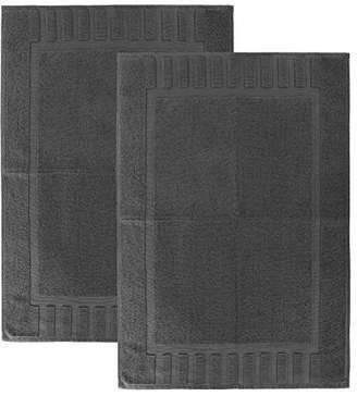 "+Hotel by K-bros&Co Luxury Hotel and Spa 100% Cotton Banded Panel Bath Mat Set 22""x34"" (2"