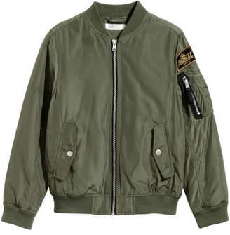 H&M Padded Bomber Jacket - Green