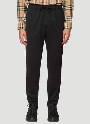 Burberry Stripe Trim Track Pants in Black