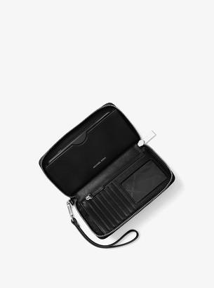 MICHAEL Michael Kors Large Saffiano Leather Smartphone Wristlet