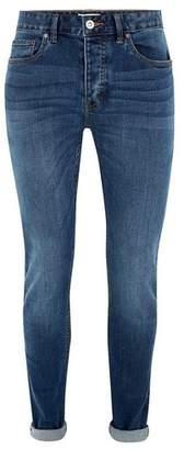Topman Mens Bright Blue Wash Stretch Skinny Jeans